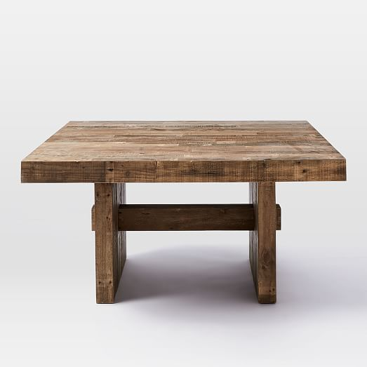 Impressive Square Dining Table Emmerson Reclaimed Wood Square Dining Table 60 Sq West Elm