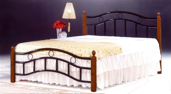 Impressive Steel King Size Bed Frame Galaxy Wooden Steel King Size Bed Natural Brown Legs 180 X 190 Cm