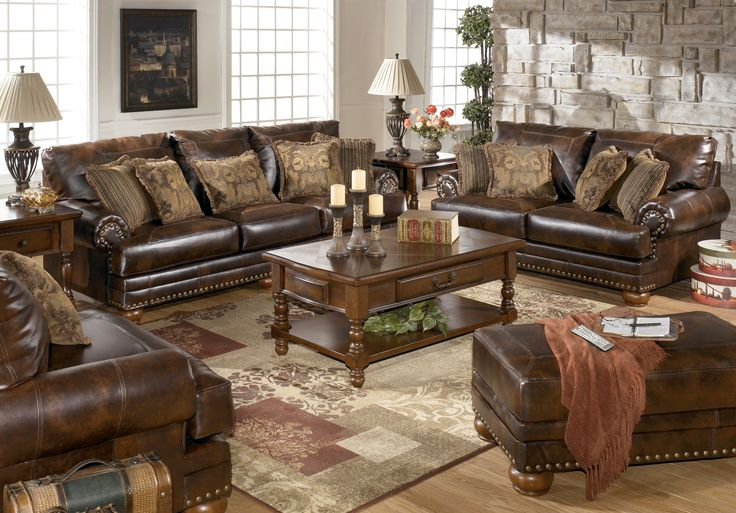 Impressive Three Piece Leather Living Room Set My New Sofa And Loveseat Ashley Furniture Durablend Antique