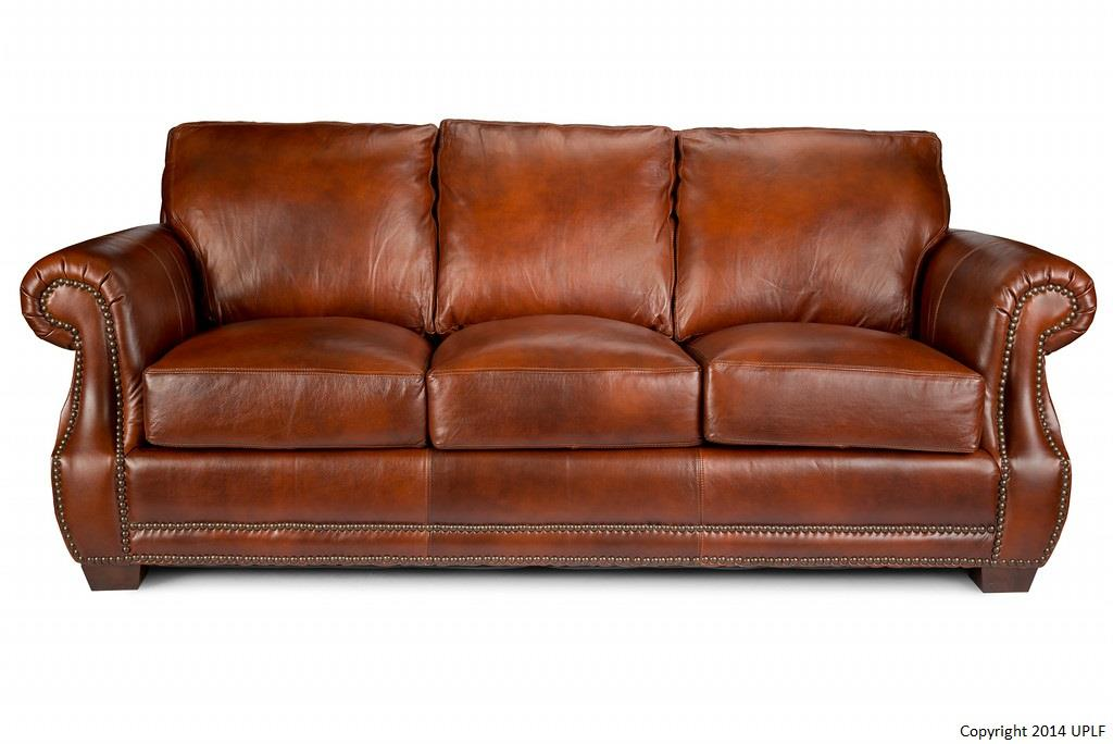 Impressive Top Grain Leather Sofa Traditional Top Grain Leather Sofa With Nailhead Trim Usa