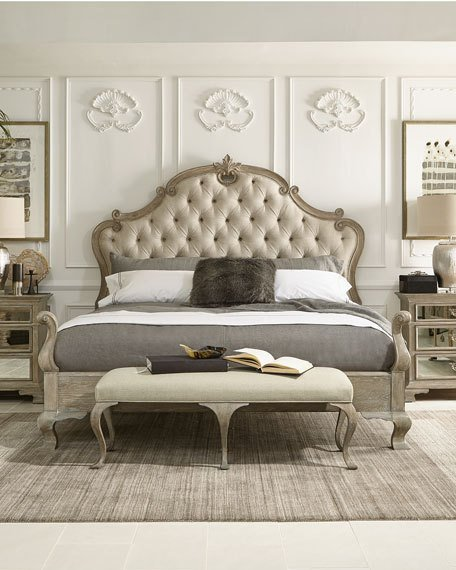 Impressive Tufted Cal King Bed Frame Bernhardt Ventura Tufted California King Bed