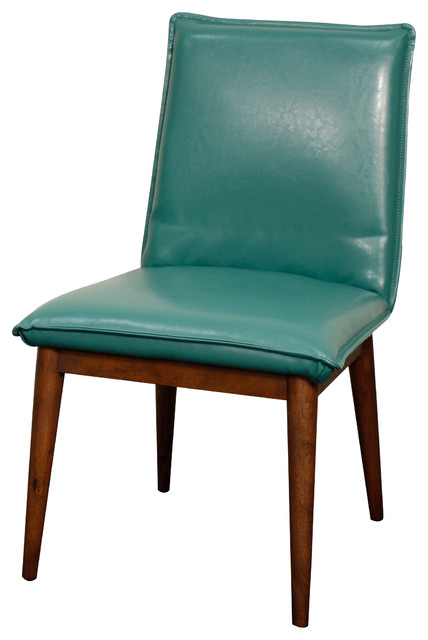 Impressive Turquoise Leather Dining Chairs Lara Bonded Leather Chair Midcentury Dining Chairs New