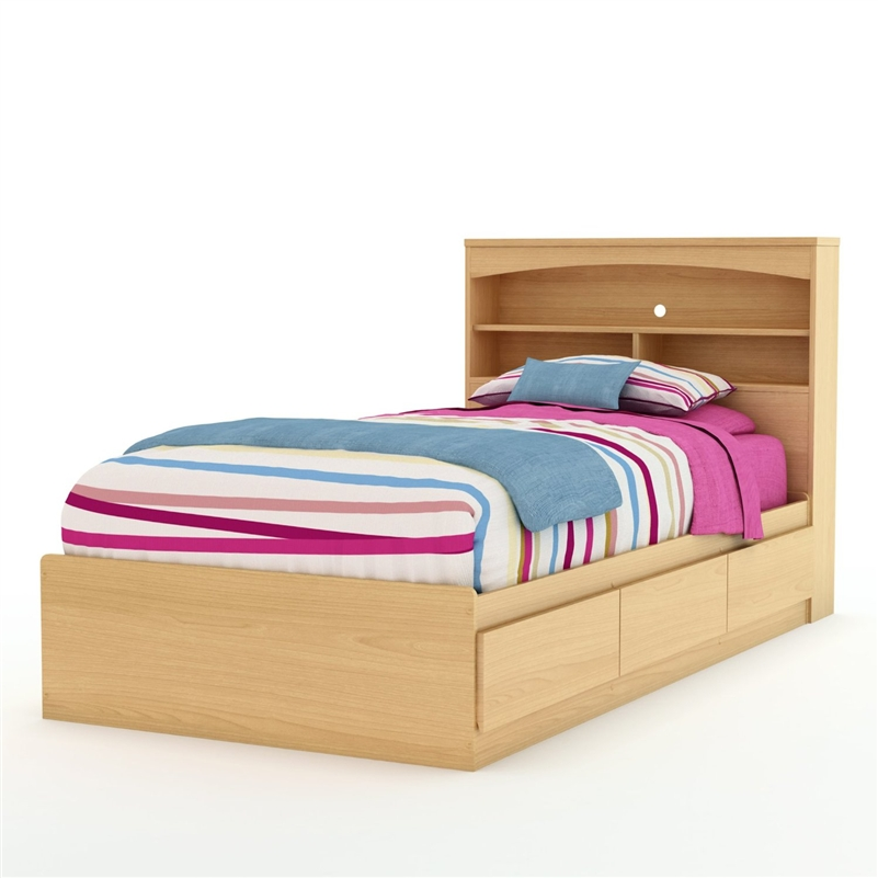 Impressive Twin Platform Bed Frame Twin Size Mates Platform Bed Frame In Natural Maple Finish