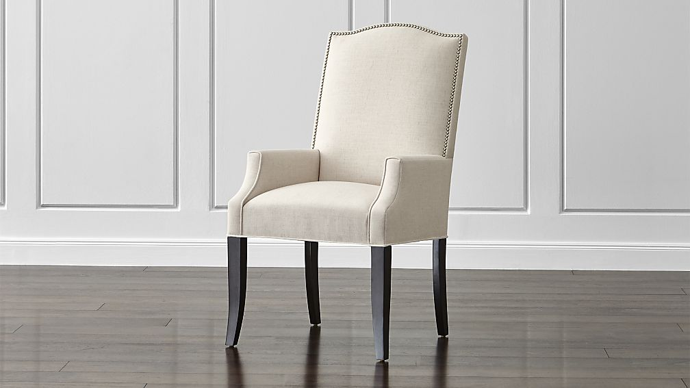 Impressive Upholstered Dining Chairs With Arms Colette Ii Upholstered Dining Arm Chair Crate And Barrel