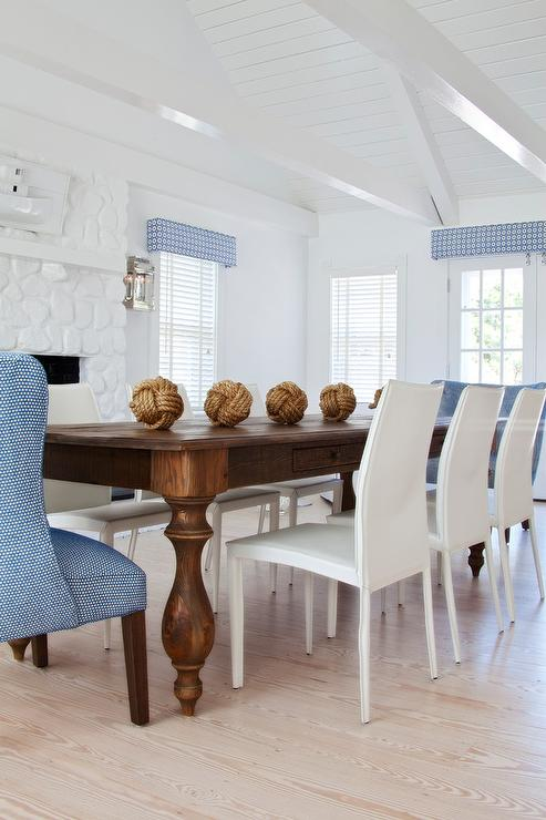 Impressive White And Brown Dining Chairs Dining Room Geometric Cornice Design Ideas