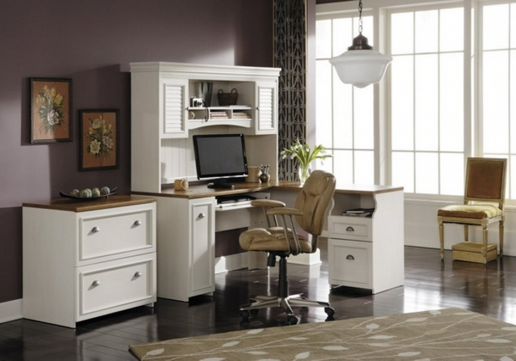 Impressive White Home Office Furniture Home Office Furniture Collections Home Interior Decorating Ideas