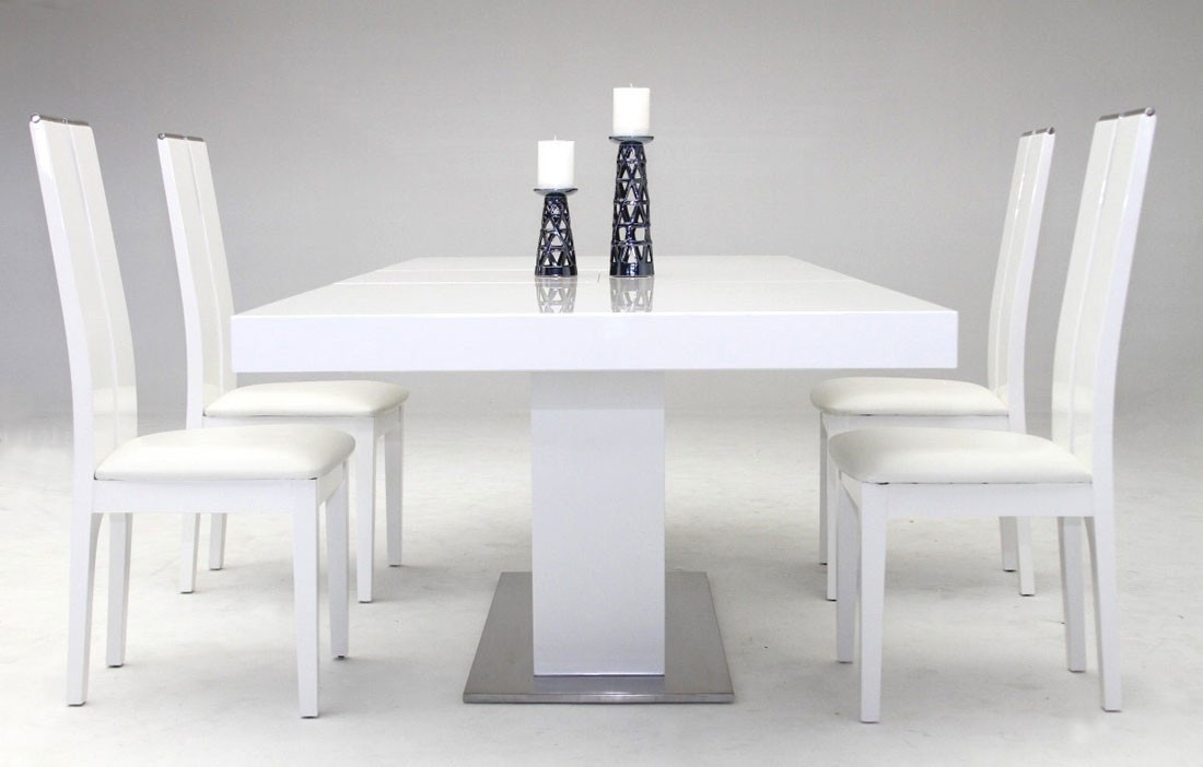 Impressive White Lacquer Dining Table Modern Cierra Modern Dining Table White Lacquer