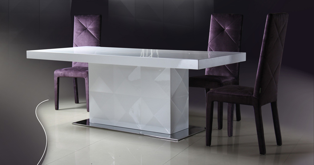 Impressive White Lacquer Dining Table Modern Las Vegas Modern Contemporary Furniture Warehouse Free