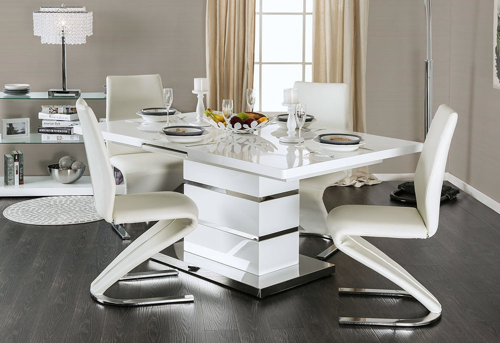 Impressive White Lacquer Dining Table Modern White Lacquer Dining Table