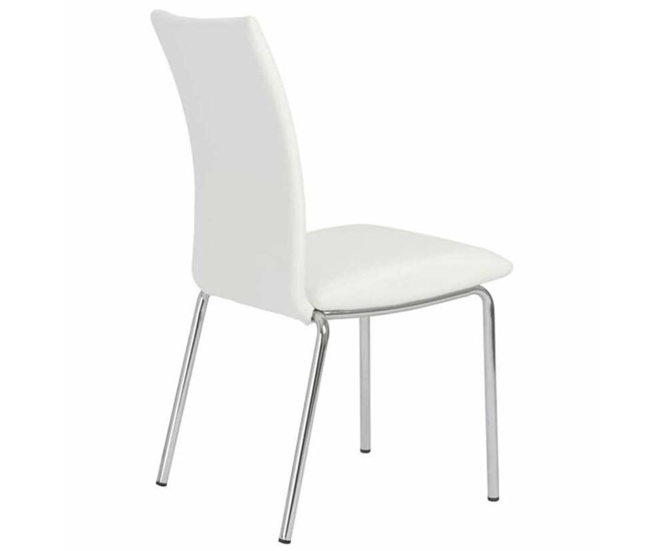Impressive White Leather High Back Dining Chairs Dining Room Nice Looking Modern Dining Chair With Curve High Back