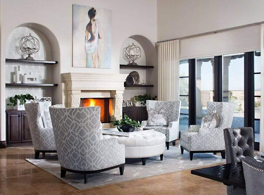 Impressive White Leather Living Room Chairs 36 Elegant Living Rooms That Are Richly Furnished Decorated