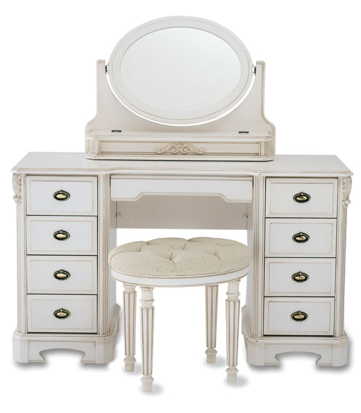Impressive White Makeup Vanity With Storage Rectangle White Wooden Makeup Vanity With Eight Drawer And Oval