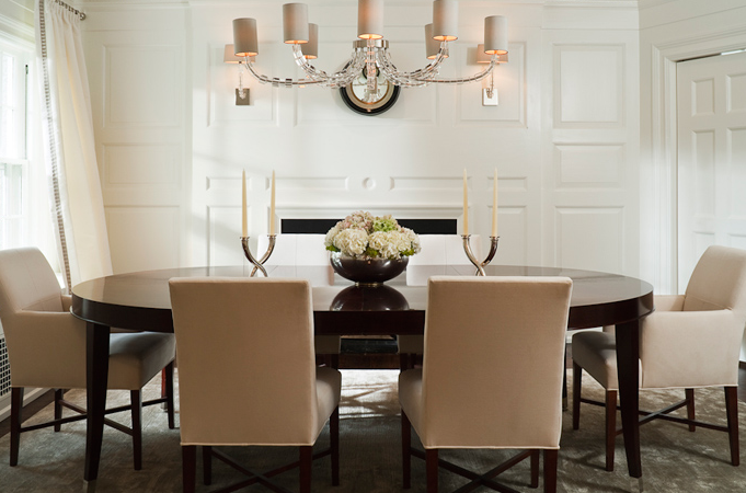 Impressive White Parsons Chairs Dining Room White Parsons Dining Table With Worlds Away David Silver Leafed