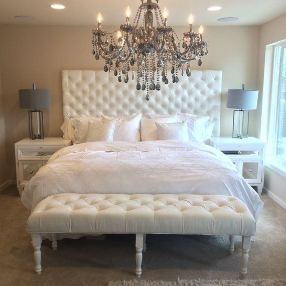 Impressive White Tufted Headboard And Footboard Bedroom Queen Size With Tufted Headboard And Footboard Sets Marble