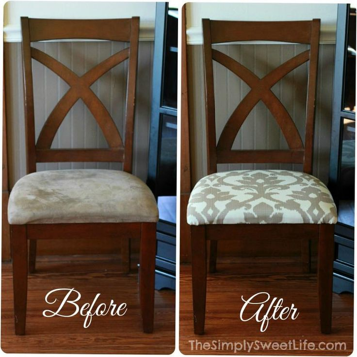 Impressive Wood And Fabric Dining Chairs Best 25 Recover Dining Chairs Ideas On Pinterest Diy Furniture