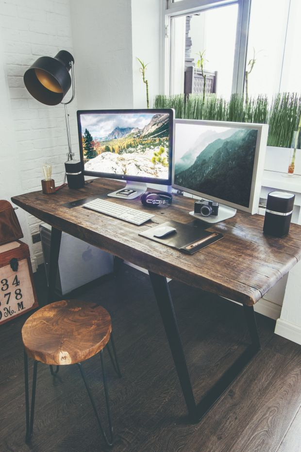 Impressive Wood Desk Designs Best 25 Wooden Desk Ideas On Pinterest Diy Wooden Desk Office