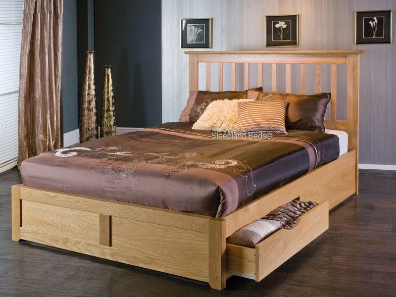 Impressive Wooden King Size Bed Great King Size Bed Frame With Storage Modern Storage Twin Bed