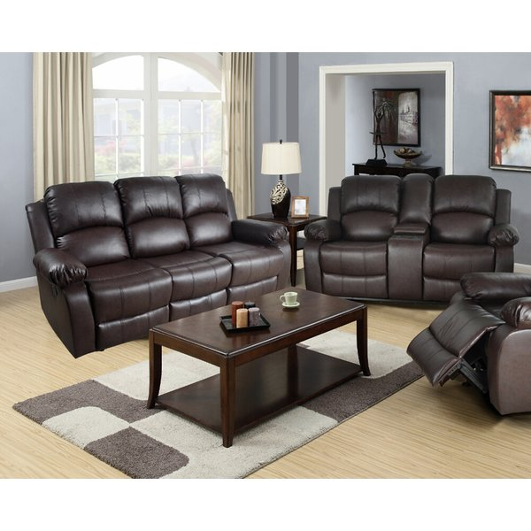 Incredible 2 Piece Leather Living Room Set Red Barrel Studio Mayday 2 Piece Leather Living Room Set Reviews