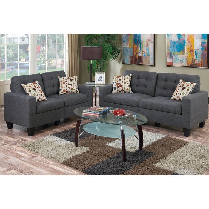 Incredible 2 Piece Living Room Set Zipcode Design Amia 2 Piece Living Room Set Reviews Wayfair