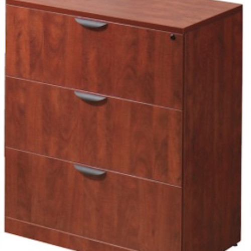 Incredible 3 Drawer Wood File Cabinet With Lock Office Innovators Filing Cabinets