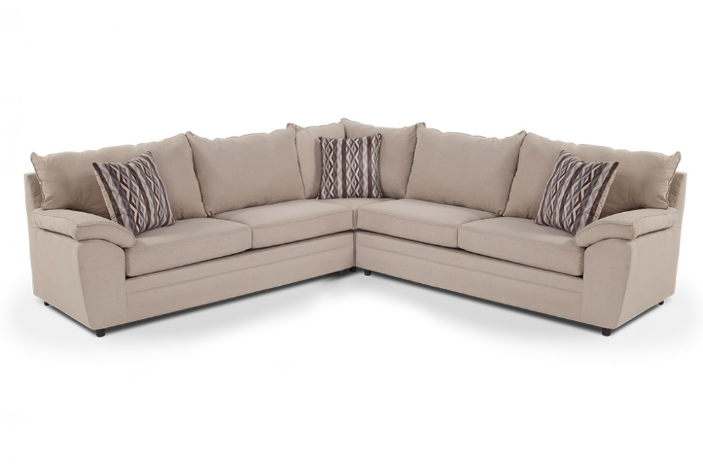 Incredible 3 Piece Sectional Couch Sectional Sofas Living Room Furniture Bobs Discount Furniture