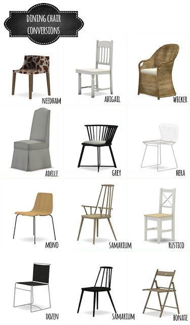 Incredible 4 Dining Chairs Dining Chair Conversions Mio Sims Sims 4 Updates Pinterest