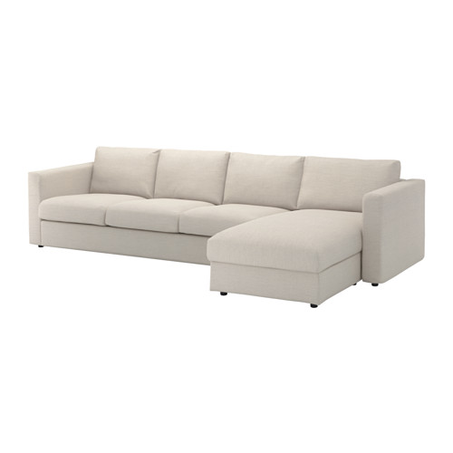 Incredible 4 Seat Sectional Sofa Vimle Sectional 4 Seat With Chaisegunnared Beige Ikea