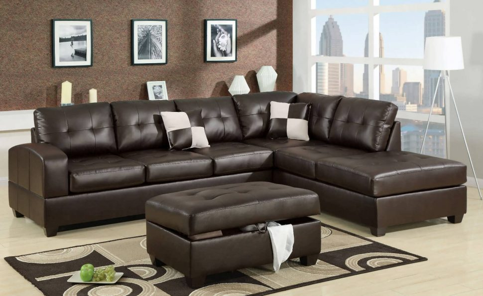 Incredible 5 Piece Sectional Couch Sofa Leather Chaise Sofa Leather Sectional Modern Sectional