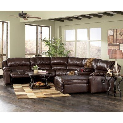 Incredible 6 Piece Living Room Set Braxton Java 6 Piece Sectional Living Room Set Millennium