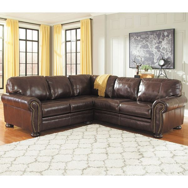 Incredible Ashley Brown Leather Couch 2pc Raf Sofa Leather Sectional 0h0 504rs 2pc Ashley Afw