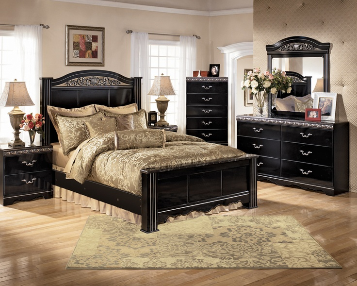 Incredible Ashley Furniture Black Nightstand A Great Bedroom Layout Using Ashley Furniture Products