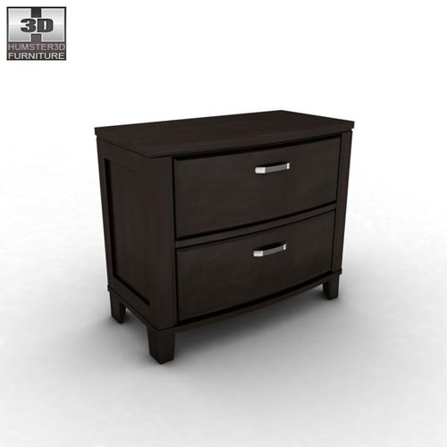 Incredible Ashley Furniture Black Nightstand Ashley Emory Nightstand 3d Asset Cgtrader