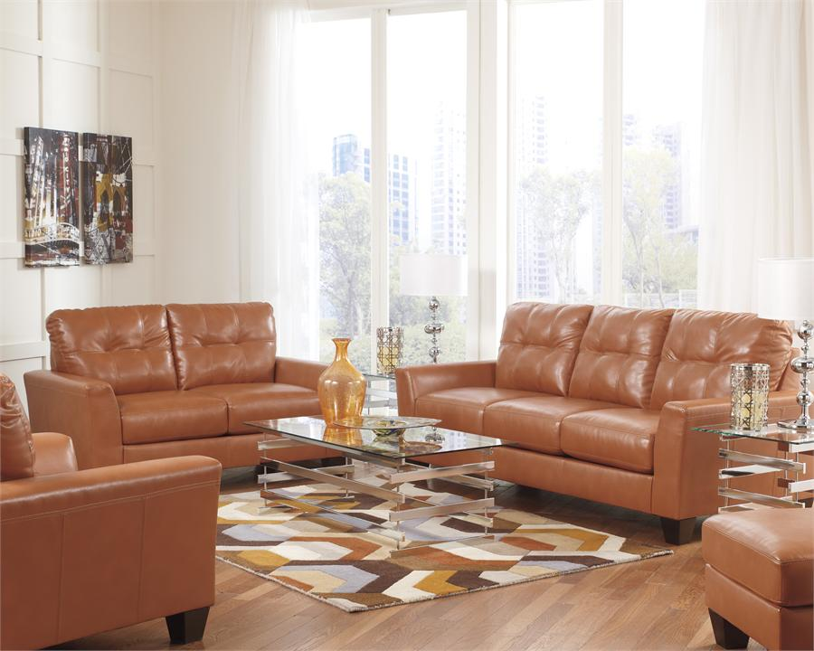 Incredible Ashley Furniture Leather Chair Paulie Orange Cuddler Chair Ashley Furniture