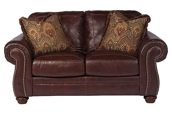 Incredible Ashley Furniture Leather Loveseat The Hessel Loveseat From Ashley Furniture Homestore Afhs