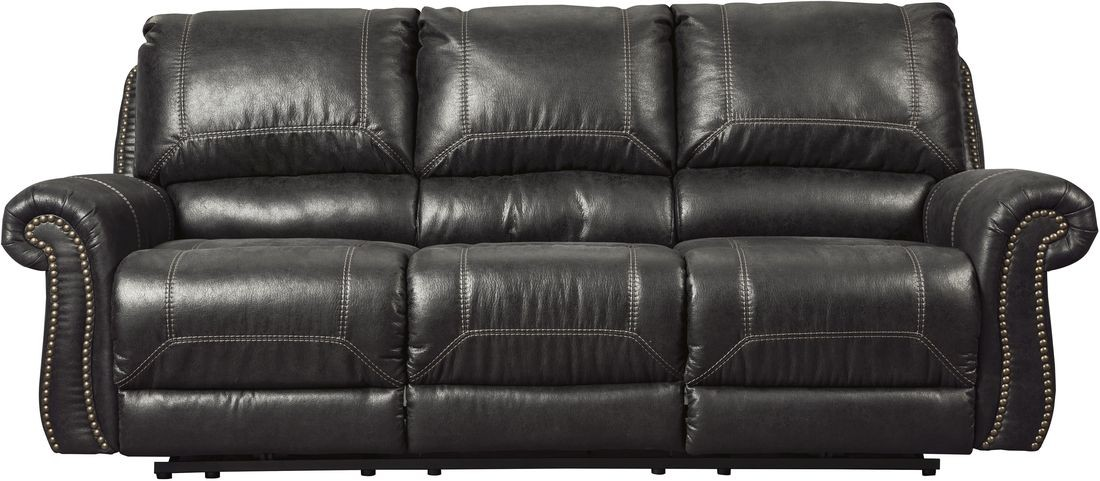 Incredible Ashley Furniture Leather Recliners Ashley Furniture Milhaven Reclining Sofa In Black Best Priced