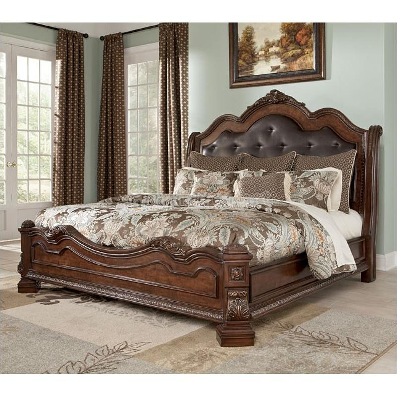 Incredible Ashley King Size Bed B705 58 Ashley Furniture Ledelle Brown Bedroom King Sleigh Bed