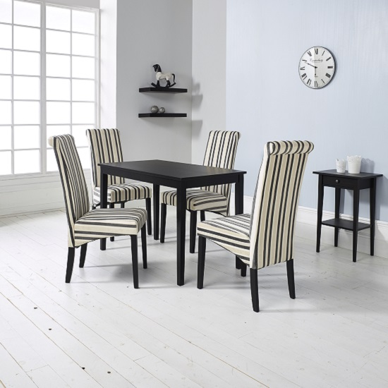 Incredible Black And Cream Dining Chairs Dining Room Interesting Solid Wood Dining Room Tables Solid Wood