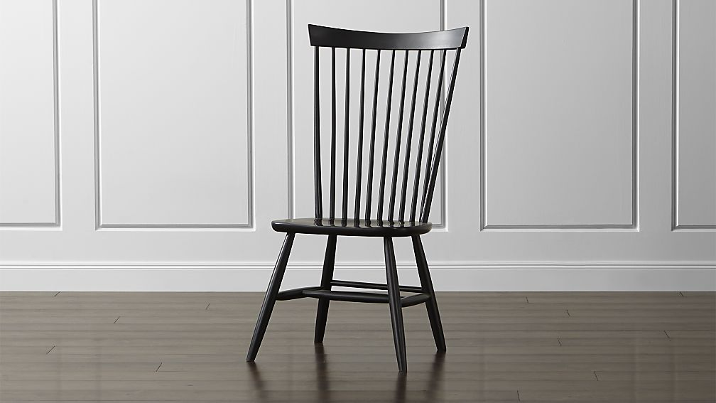 Incredible Black Dining Chairs With Arms Marlow Ii Black Maple Dining Chair Crate And Barrel