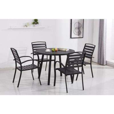 Incredible Black Dining Table And Chairs Set Metal Black Patio Dining Sets Patio Dining Furniture The