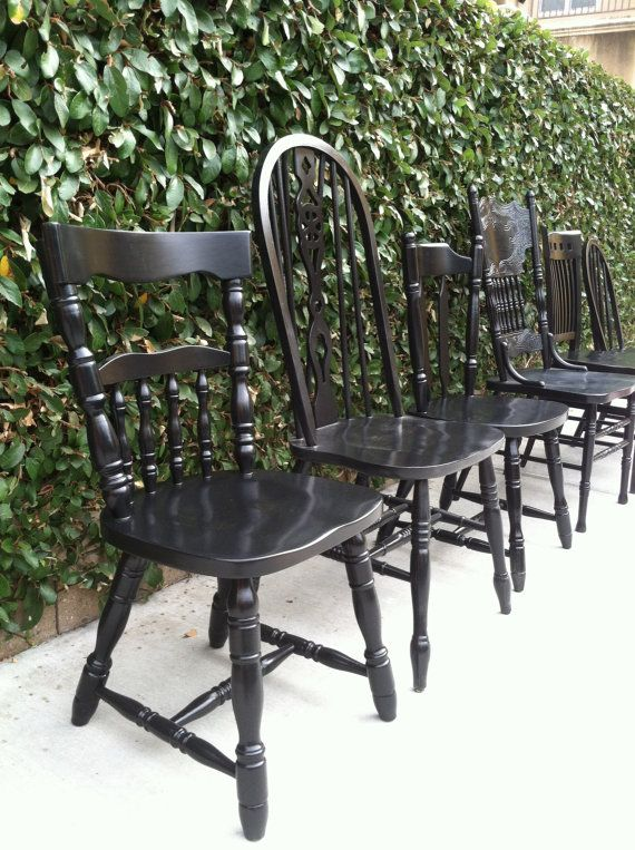 Incredible Black Kitchen Chairs Best 25 Shab Chic Dining Chairs Ideas On Pinterest Shab