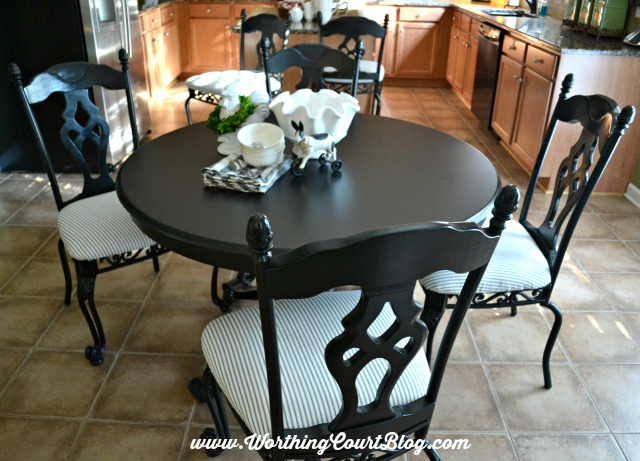 Incredible Black Kitchen Chairs Transform Kitchen Chairs With Spray Paint And A Little Fabric