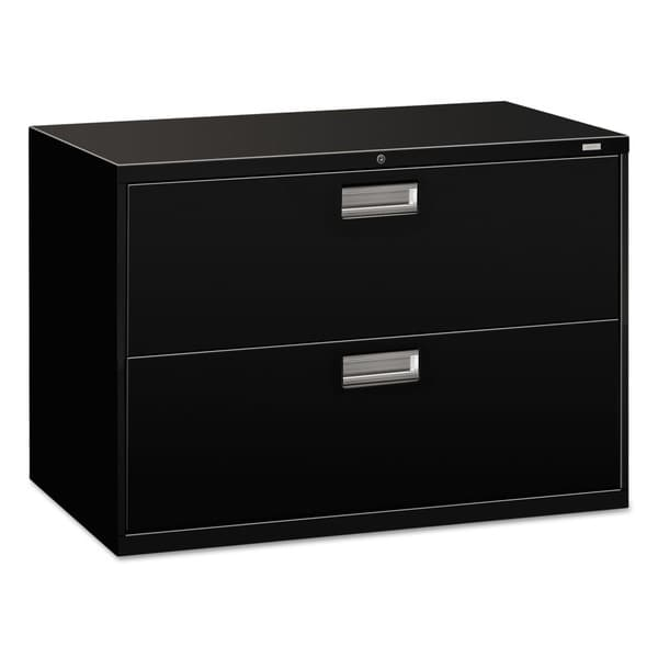 Incredible Black Lateral File Cabinet Hon 600 Series 42 Inch Wide 2 Drawer Black Lateral File Cabinet