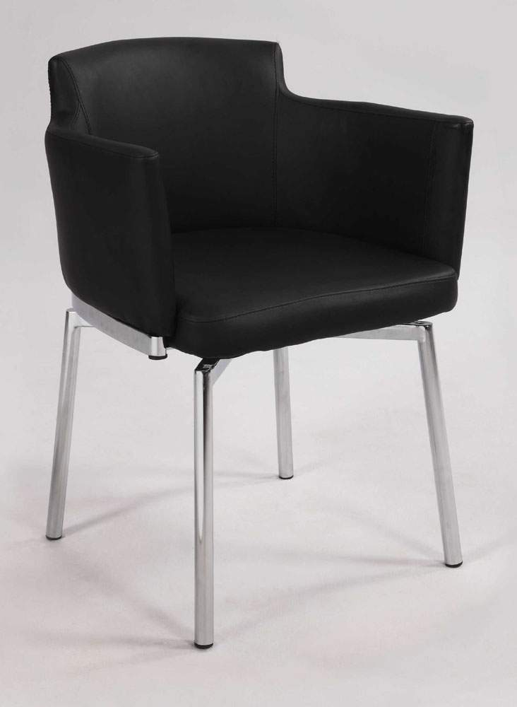 Incredible Black Leather Dining Chairs With Arms Black Grey White Or Red Comfortable Swivel Dining Room Chairs