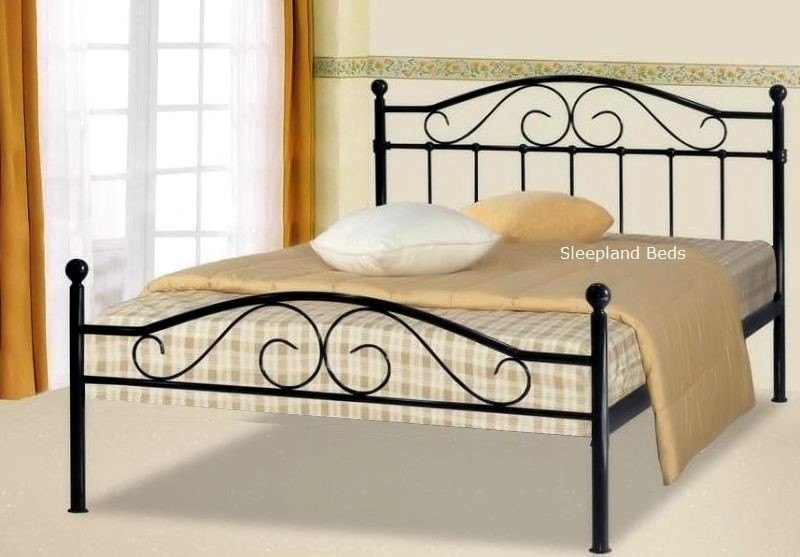 Incredible Black Wire Bed Frame Black Metal Sussex Bed Frame 4ft Small Double Beds