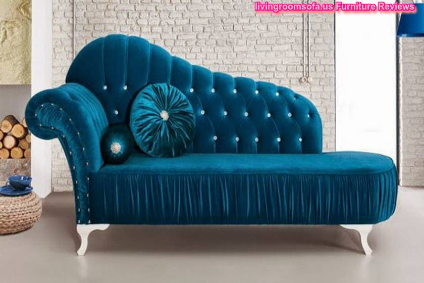 Incredible Blue Leather Chaise Lounge Living Room Awesome Engaging Image Of Decoration Using Grey