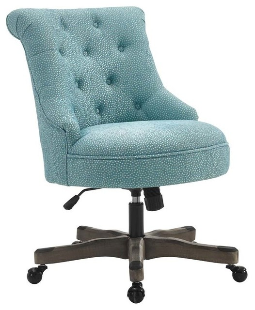 Incredible Blue Office Chair Sinclair Office Chair Gray Wash Wood Base Transitional Office