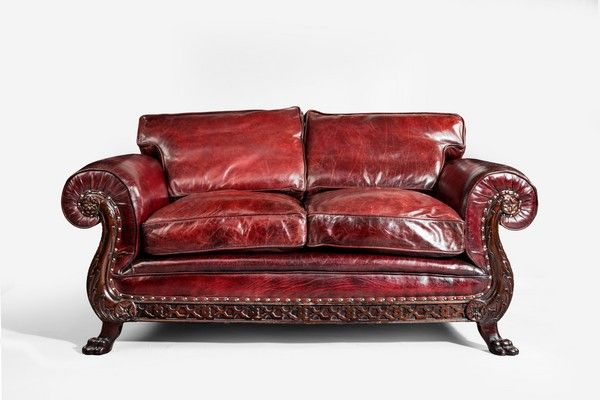Incredible Brown Leather Couch With Studs Antique Leather Sofas The Uks Premier Antiques Portal Online