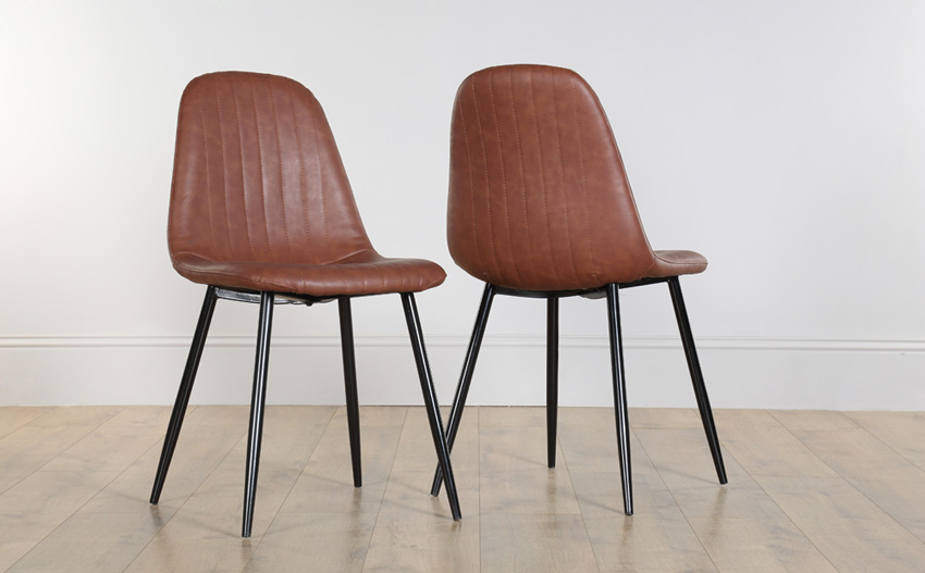 Incredible Brown Leather Dining Chairs Chairs Marvellous Brown Leather Dining Chairs Brown Real Leather