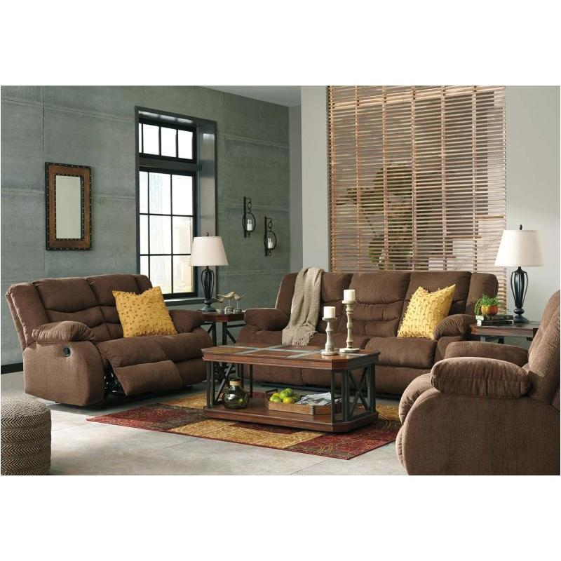 Incredible Chocolate Living Room Furniture 9860588 Ashley Furniture Tulen Chocolate Reclining Sofa