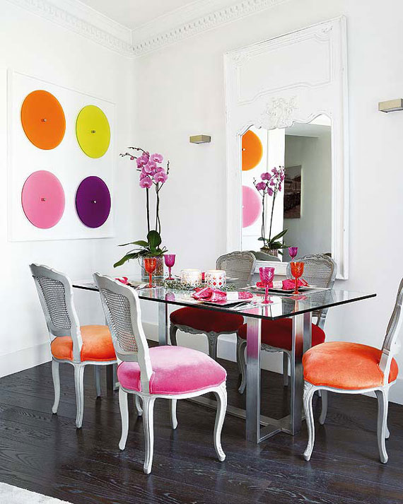Incredible Colorful Dining Chairs Download Colorful Dining Rooms Gen4congress